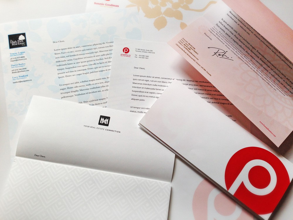 Various letterheads from Iconica