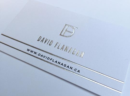David Flanagan business card - Iconica Communications