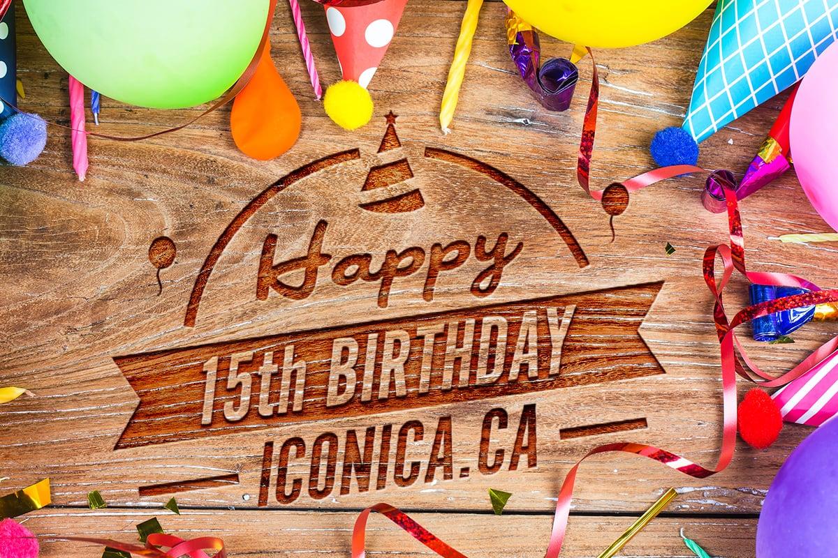 Happy 15th Birthday Iconica
