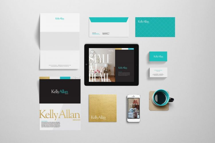 Branding materials for Kelly Allan Design - Iconica Communications