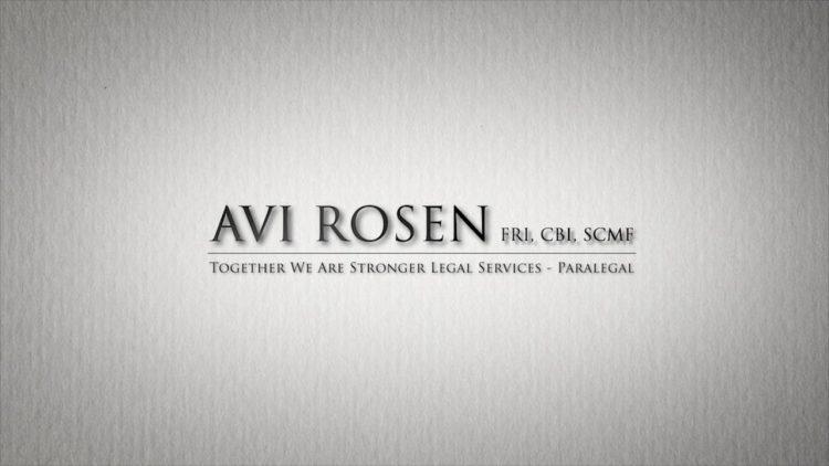 Avi Rosen – Paralegal