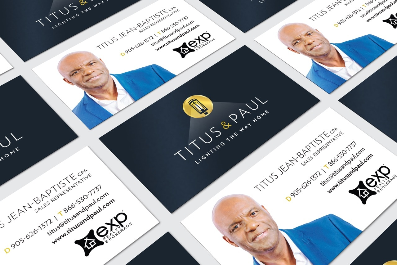 Titus and Paul business cards - Iconica Communications