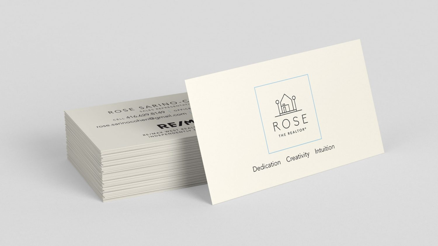 Rose the Realtor business card - Iconica Communications