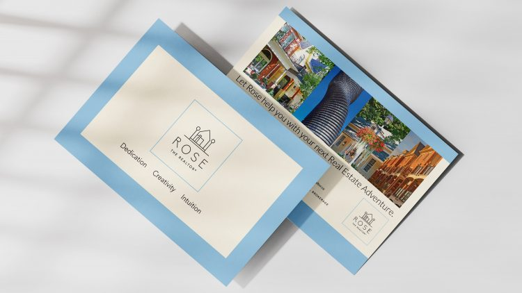 Rose the Realtor postcard - Iconica Communications
