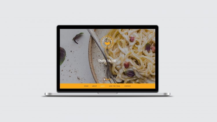 Buongiorno Cafe & Pasta website - Iconica Communications