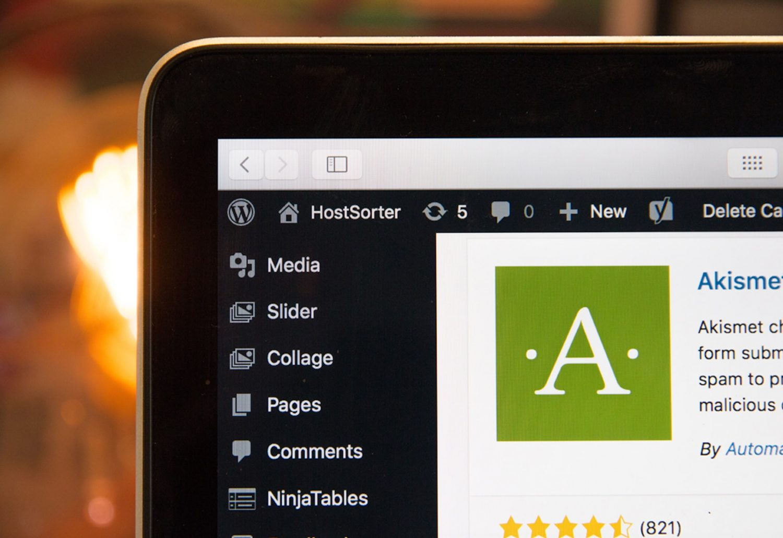 Wordpress dashboard - Iconica Communiations
