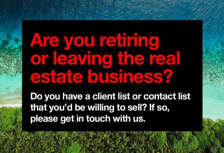 Are you retiring or leaving the real estate business? - Iconica Communications