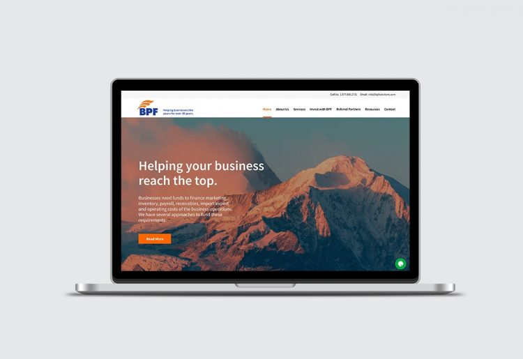 BPF Solutions website - Iconica Communications